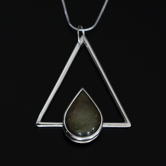 Fire - Flaming Triangle pendant