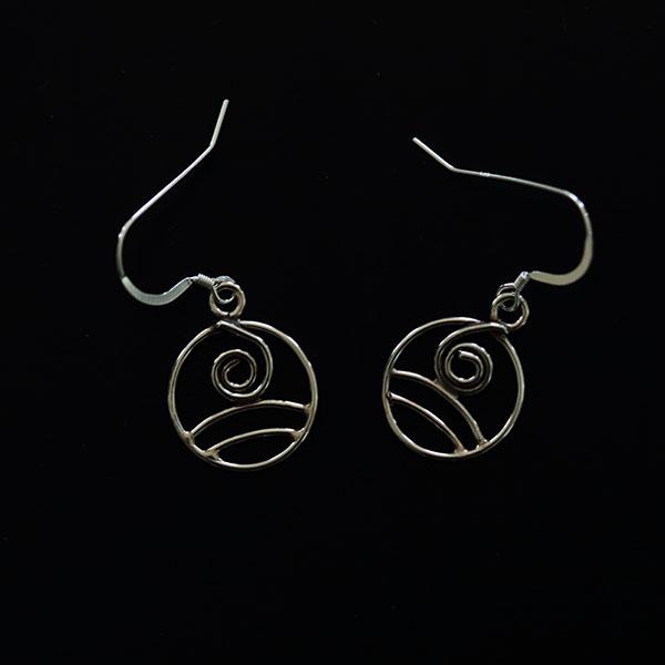 Air - swirl earrings