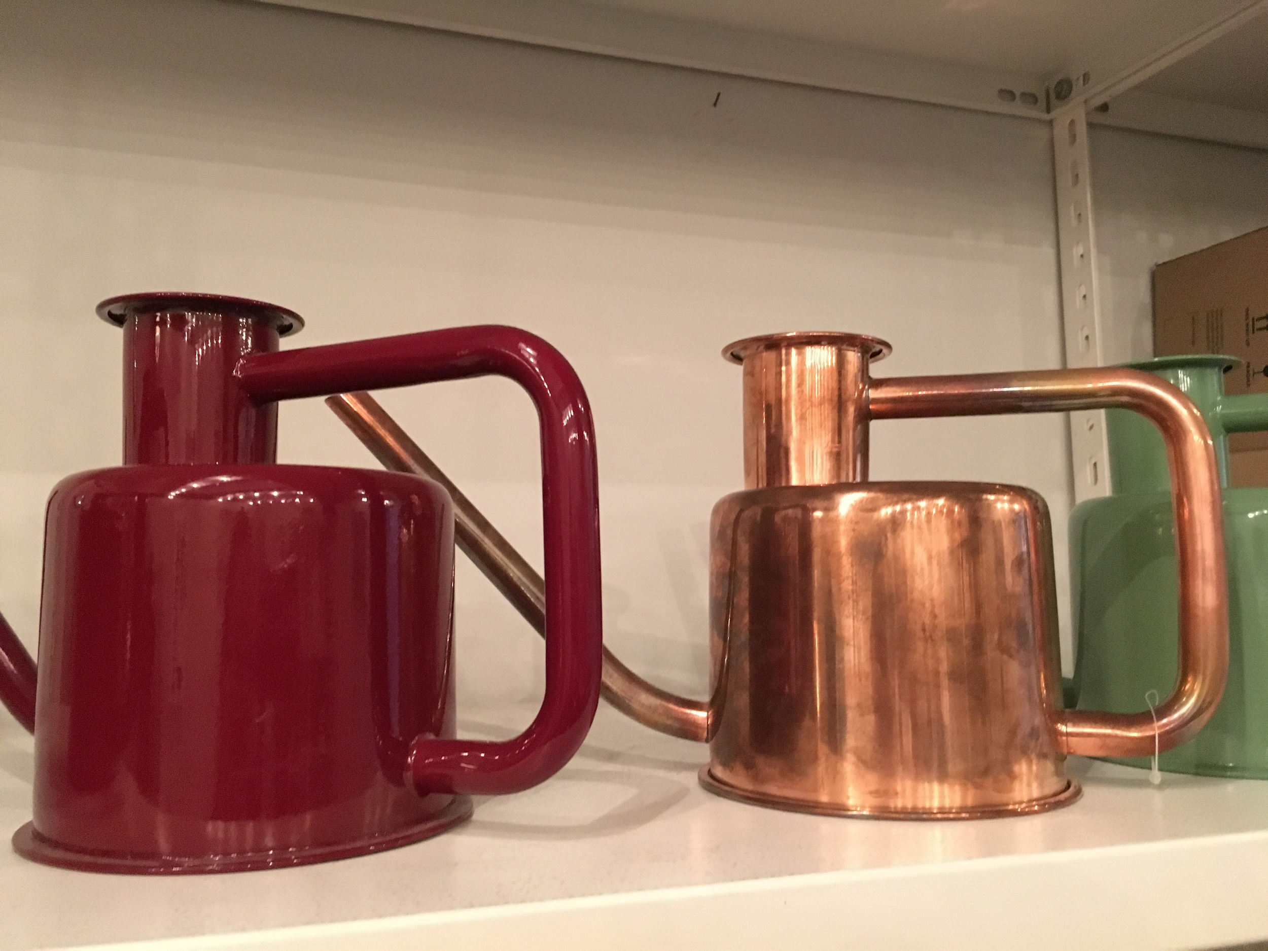 Beautiful copper watering can at lifestyle boutique - Grandpa.