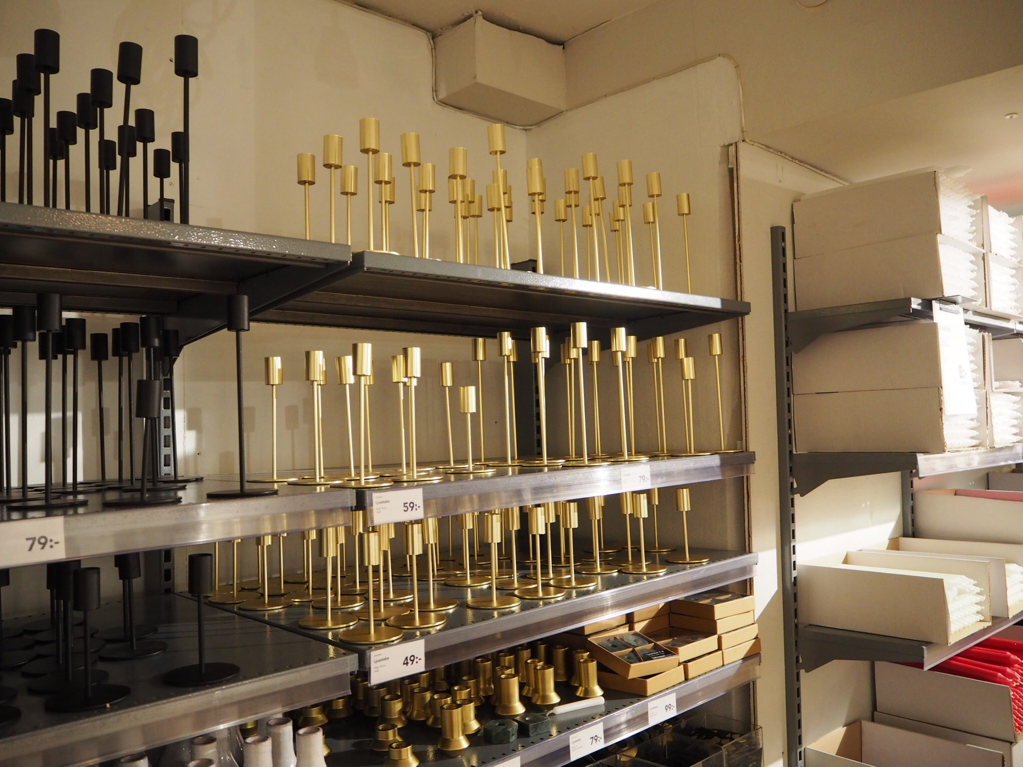 Swedish homeware brand-  Lagerhaus, Stockholm. Selling affordable brass accessroes.