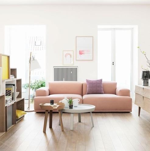Pink sofa of dreams! The Muuto connect sofa