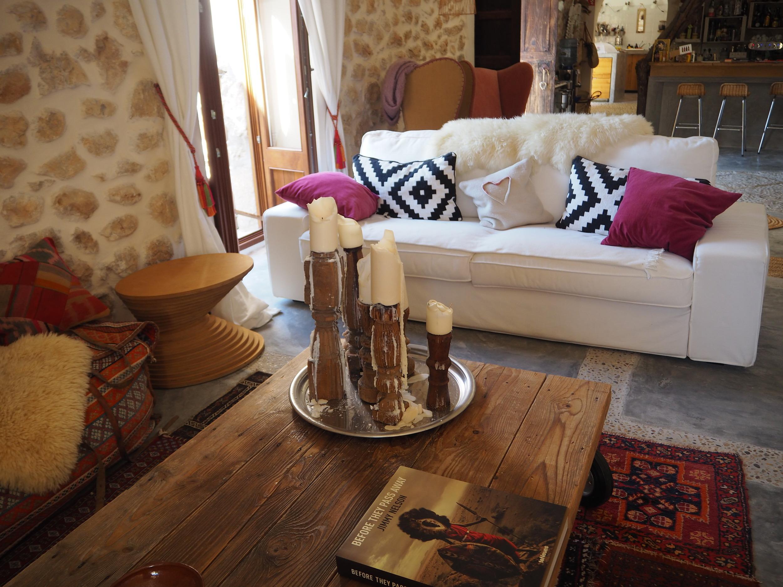 The pink Pepper Tree Hotel- Lloseta, Majoraca. A traditional Majorcan finca.