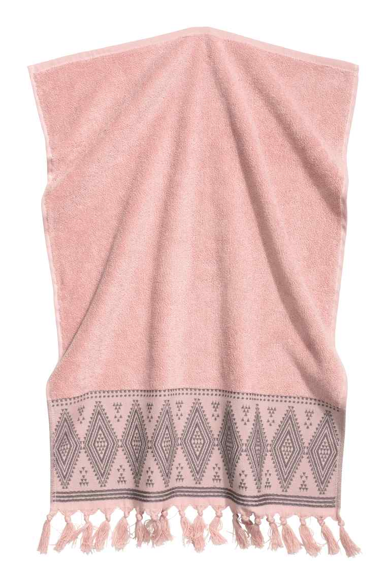 H&M PINK HAND TOWEL £3.99