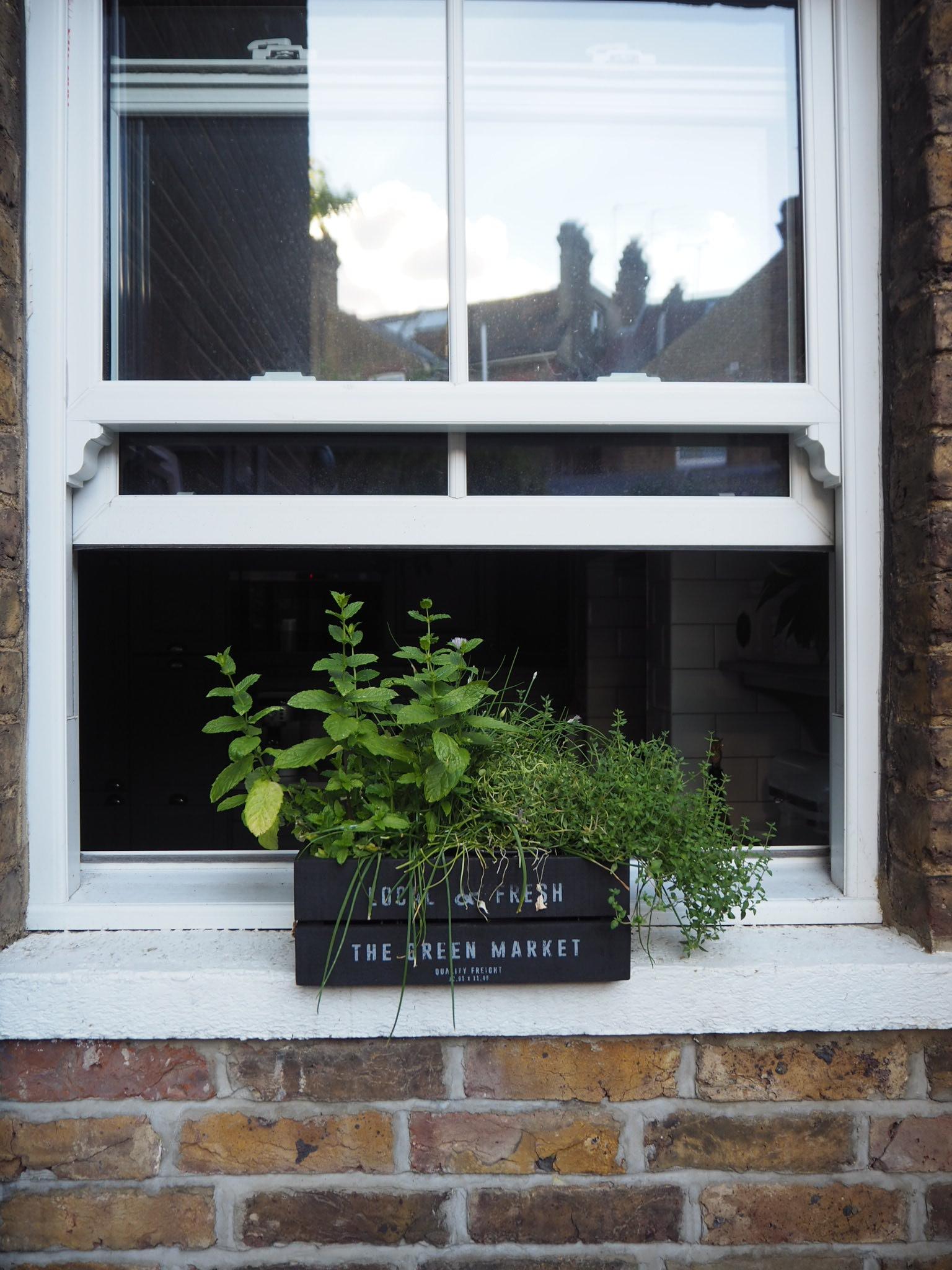 Everyone needs a herb window box like this.