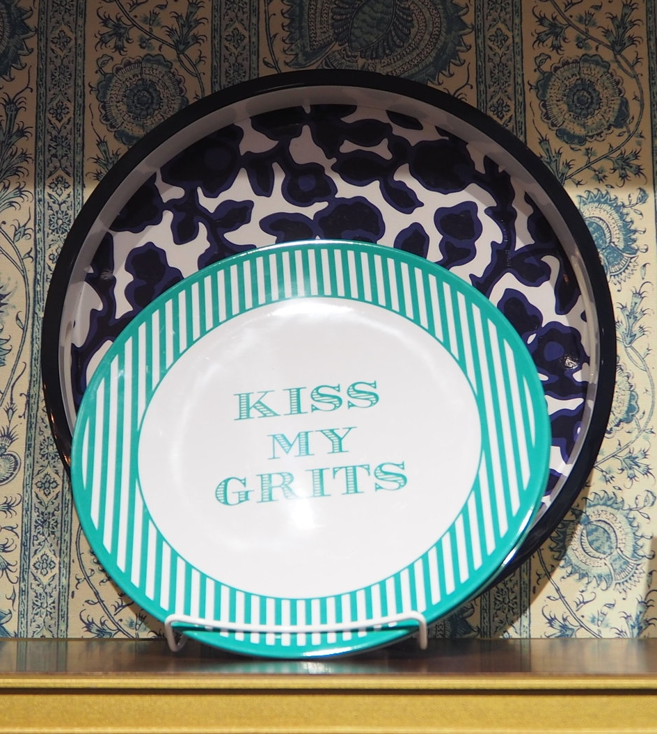 Kiss my grits! Picnic plates at Draper James. Southern lifestyle brand by Reese Witherspoon