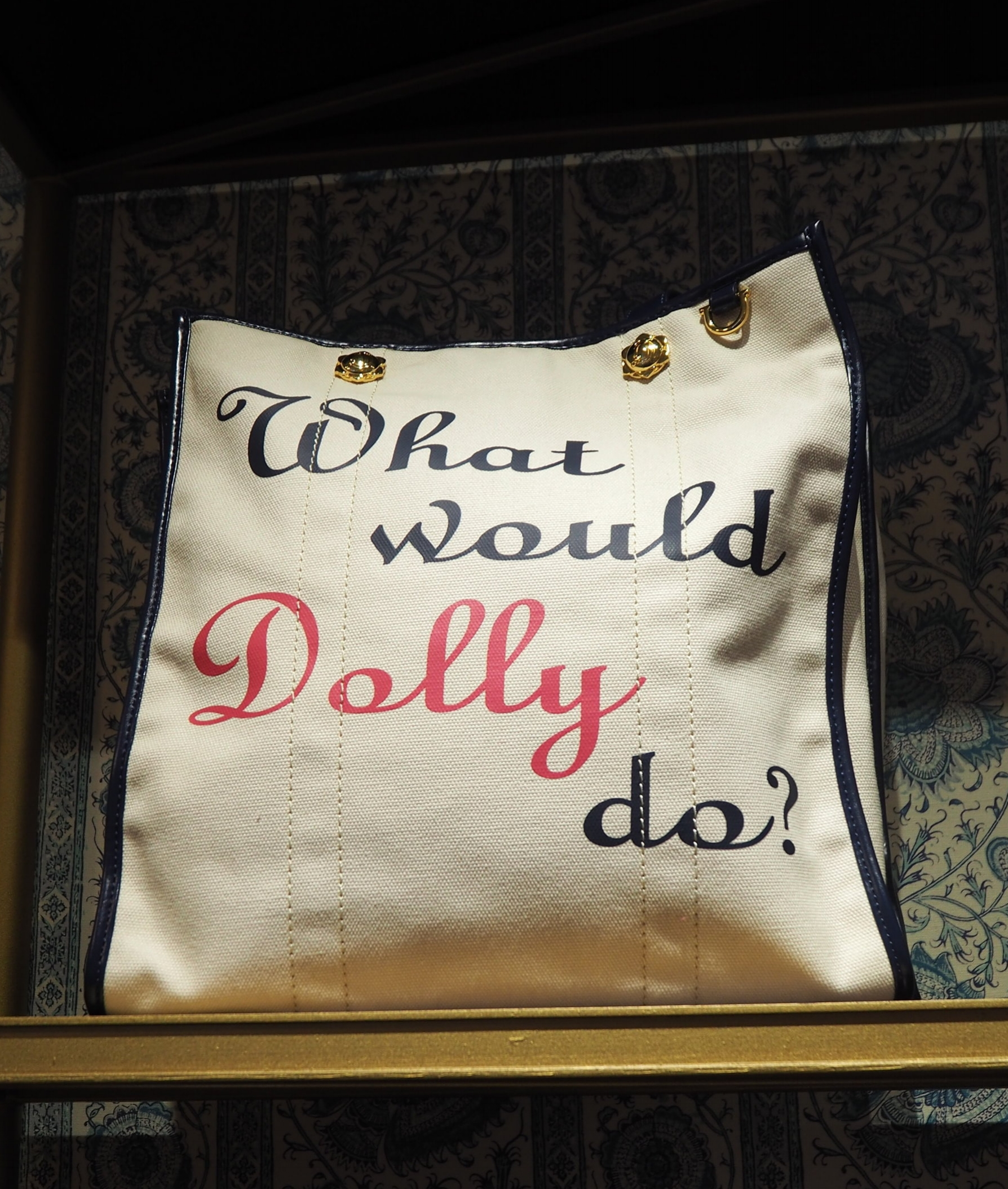 What would Dolly do? Dolly Parton inspired tote bag at Draper James. Lifestyle brand by Reese Witherspoon, in Nashville Tennessee. Click here for more info.