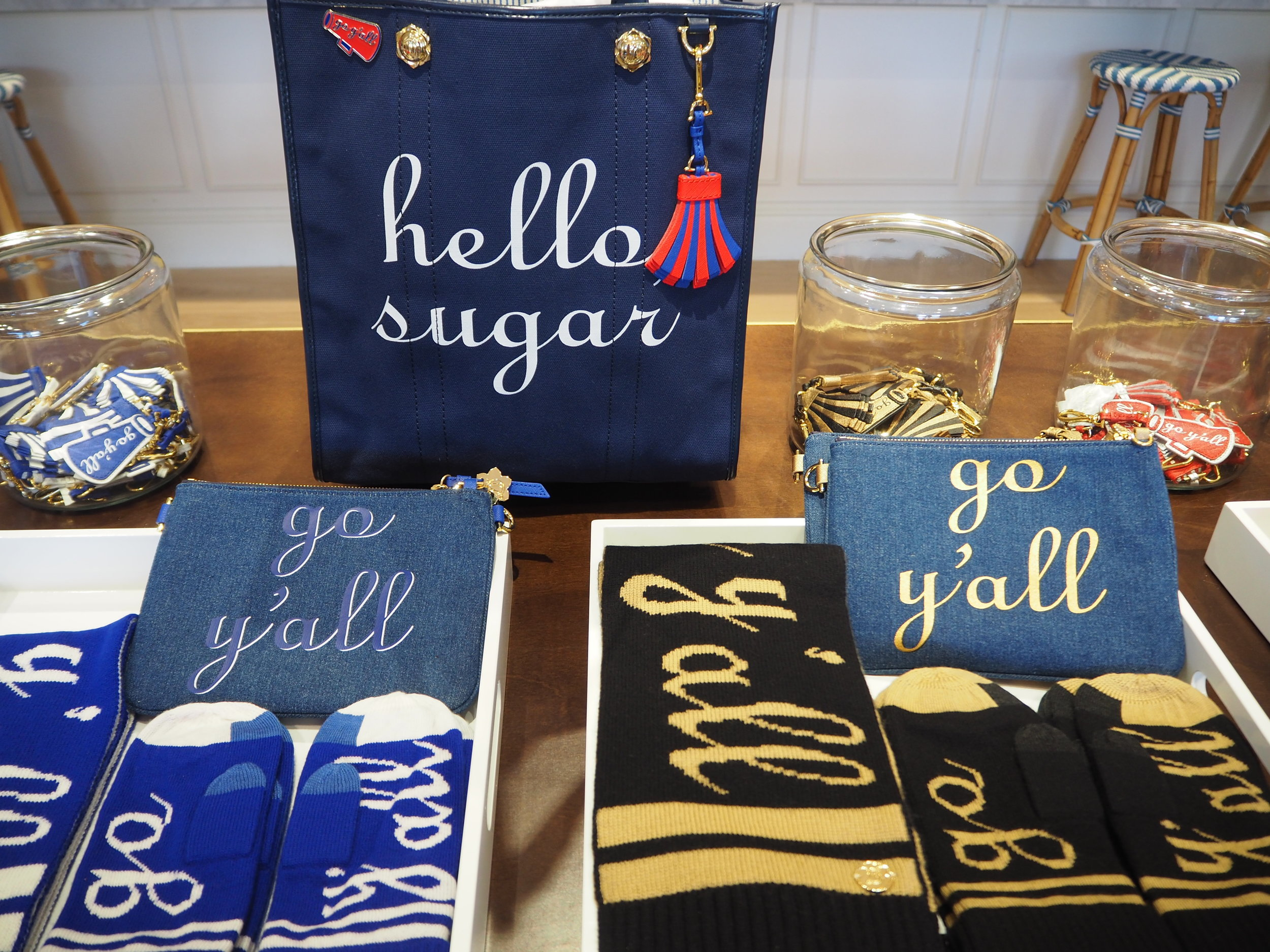 Hello Sugar! Cute branding at Draper James. Lifestyle brand by Reese Witherspoon, in Nashville Tennessee.
