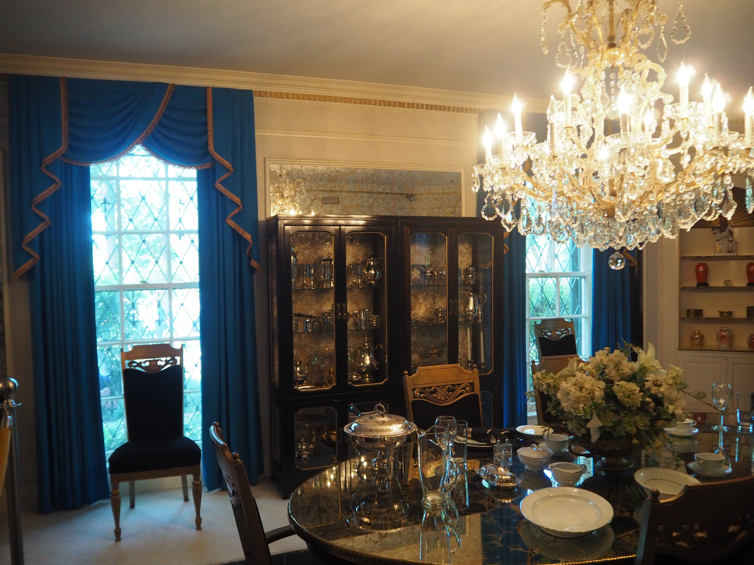 The dining room inside Elvis Presley's Graceland. To see more pics, click on the photo.