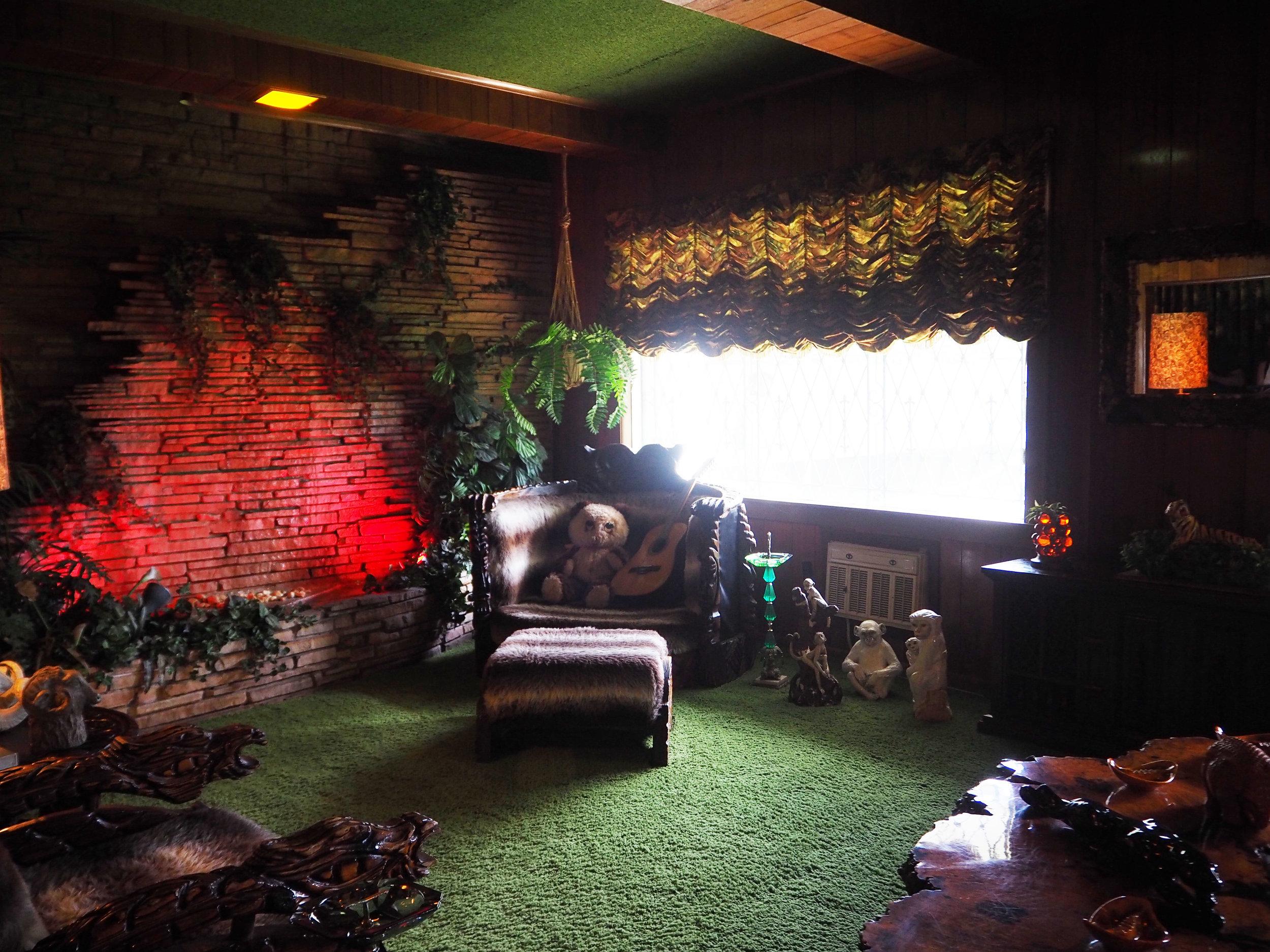 Elvis Presley | Graceland. The jungle themed room at Graceland. Click for more photos.