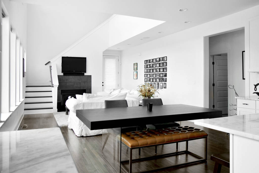 HOME TOUR! Inside Country singer Patrick Cornell's Nashville modern townhouse, and all white house/kitchen.  Click for more details.