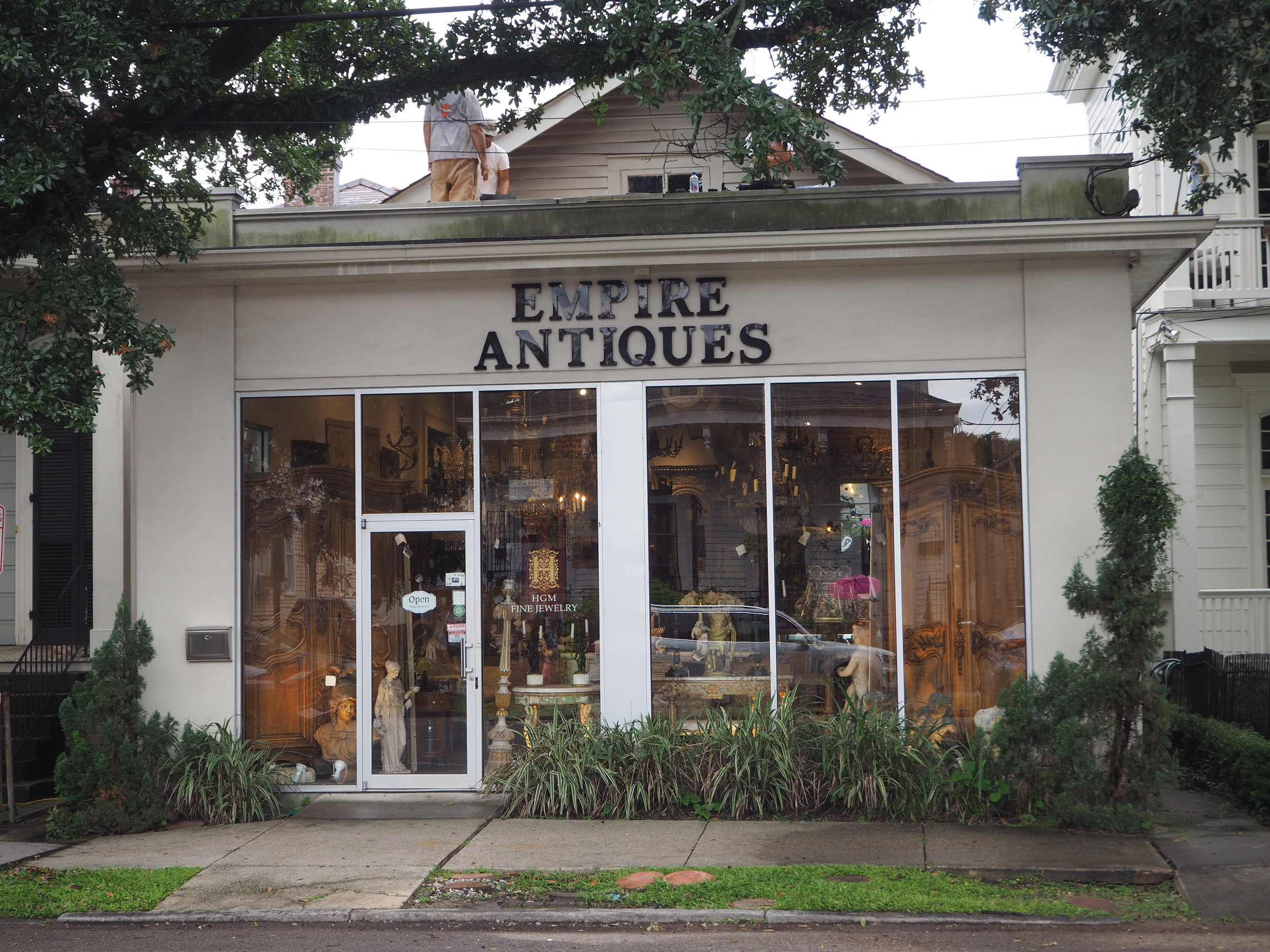 Antique shopping in New Orleans down Magazine Street.