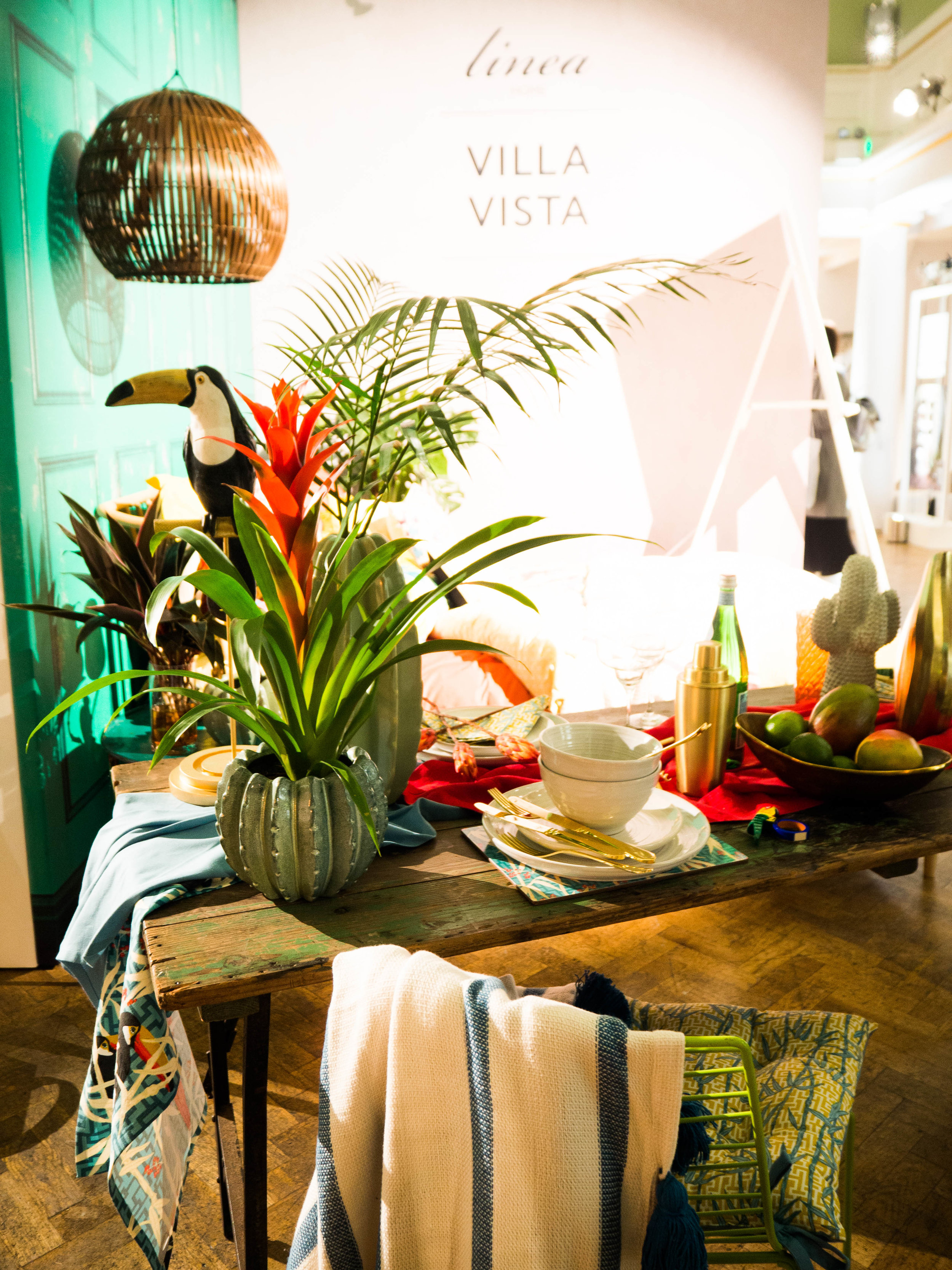 House of Fraser, Linea. Home trend; Villa Vista. SS17 P