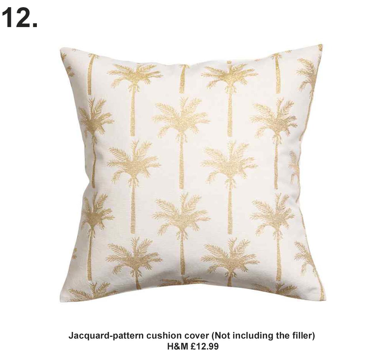 Jacquard-pattern cushion cover H&M £12.99