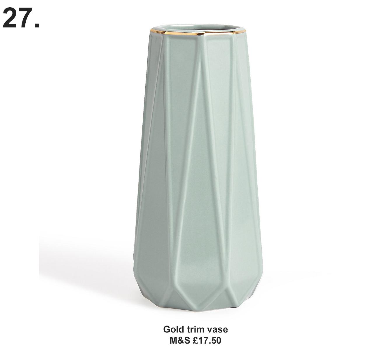 Gold trim Vase, M&S £17.50