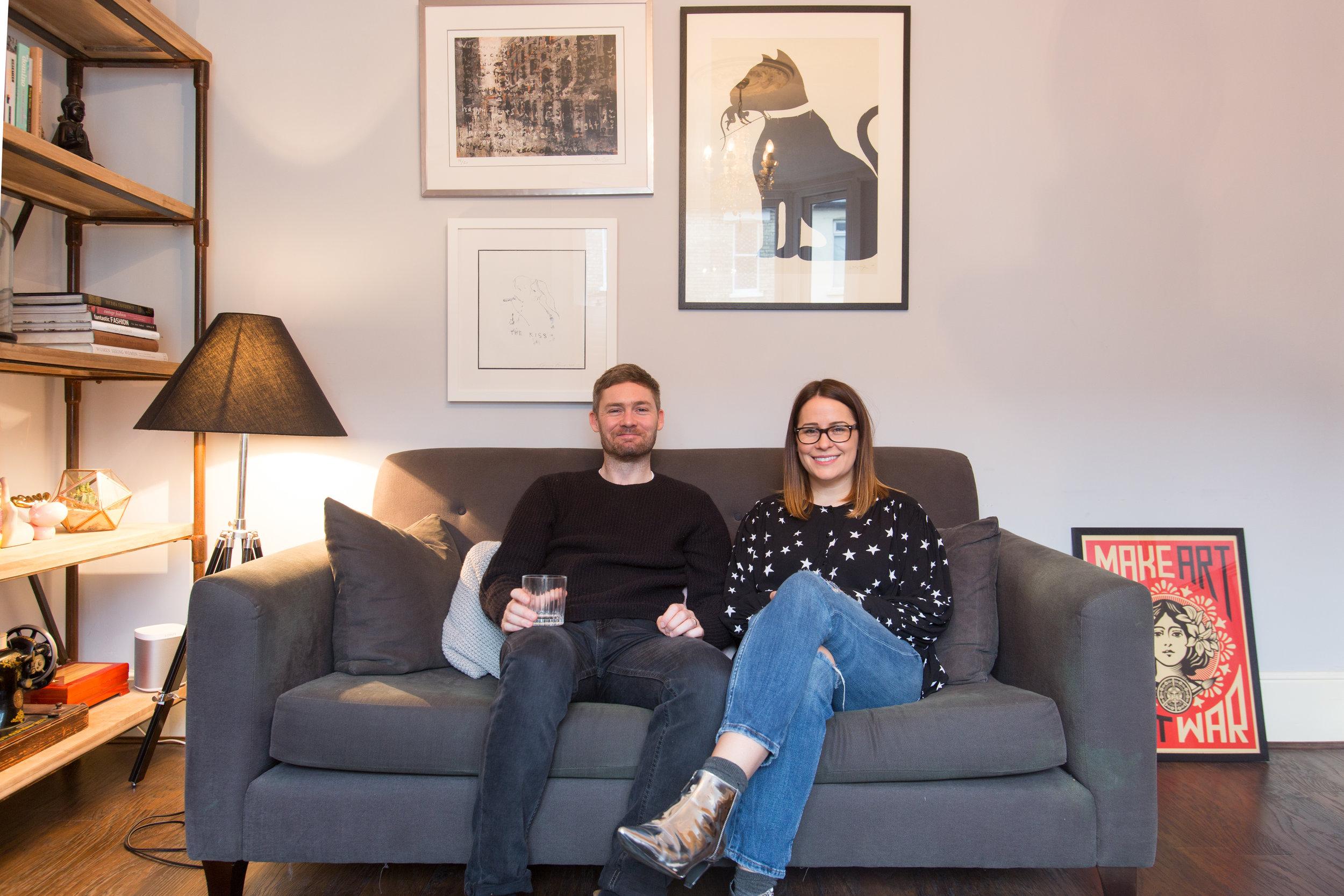 Interior blogger Amanda Cotton (aka House Lust) and her husband Jess Cotton