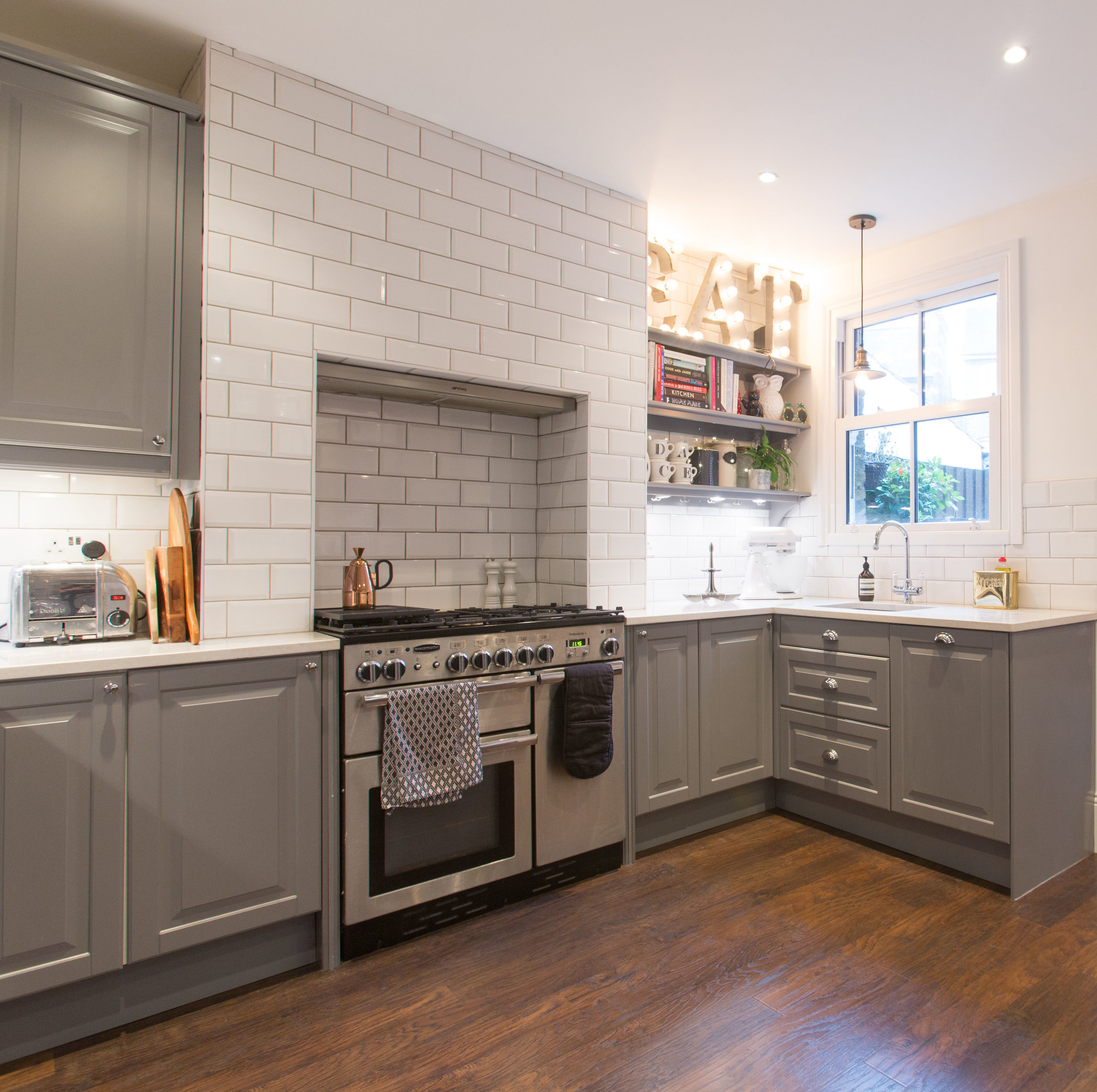 Grey industrial kitchen from ikea.