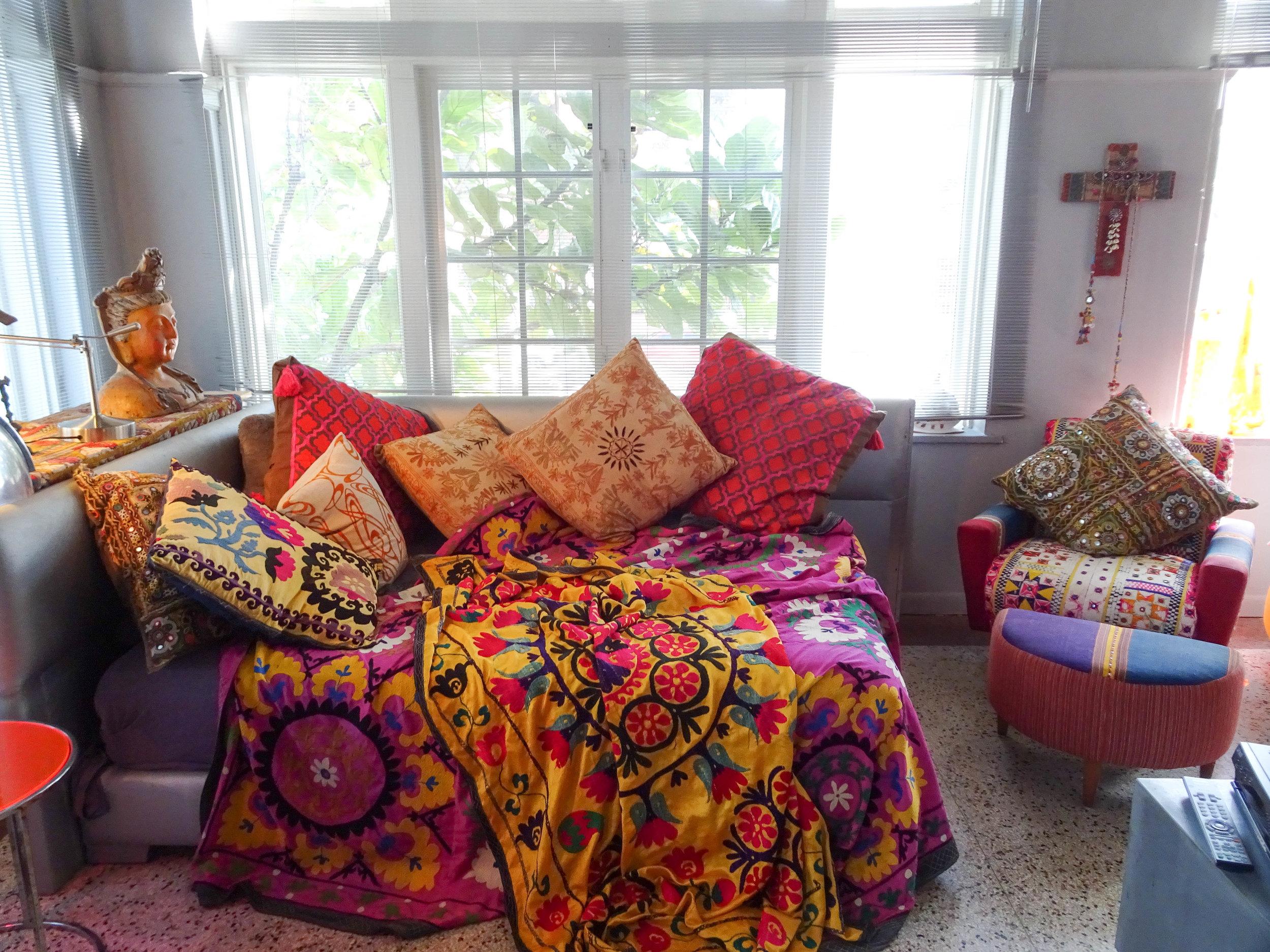 Take a tour around Interior & Biba fashion designer, Barbara Hulanicki's Miami home
