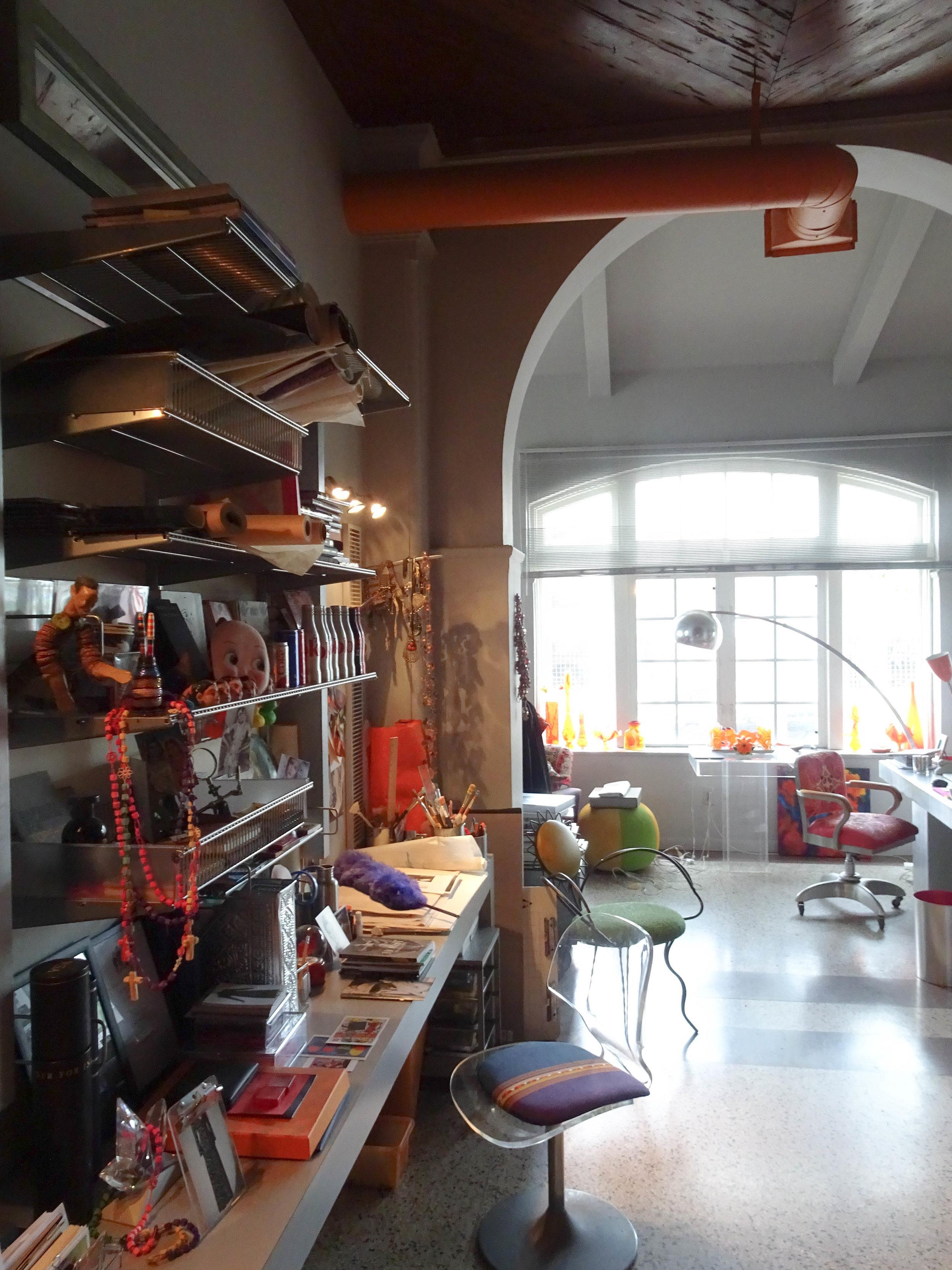 Barbara Hulanicki's home office in Miami, Florida.