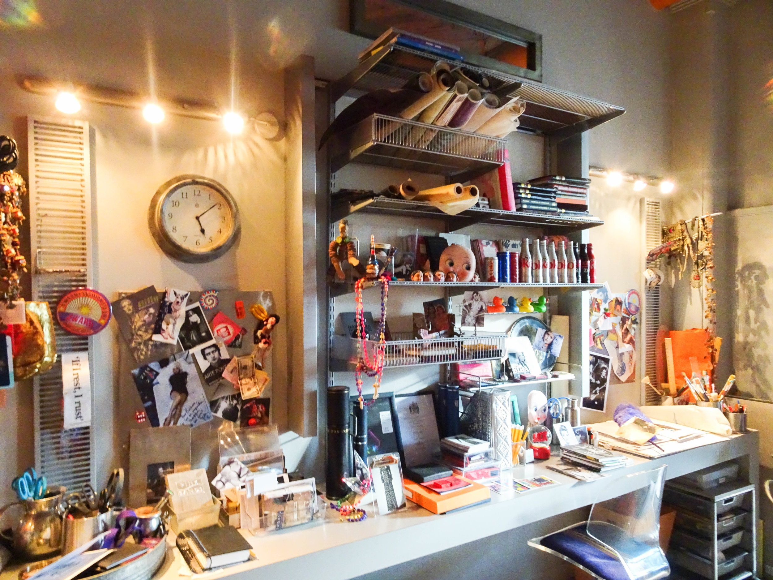 This home office is oozing with creativity and collectables