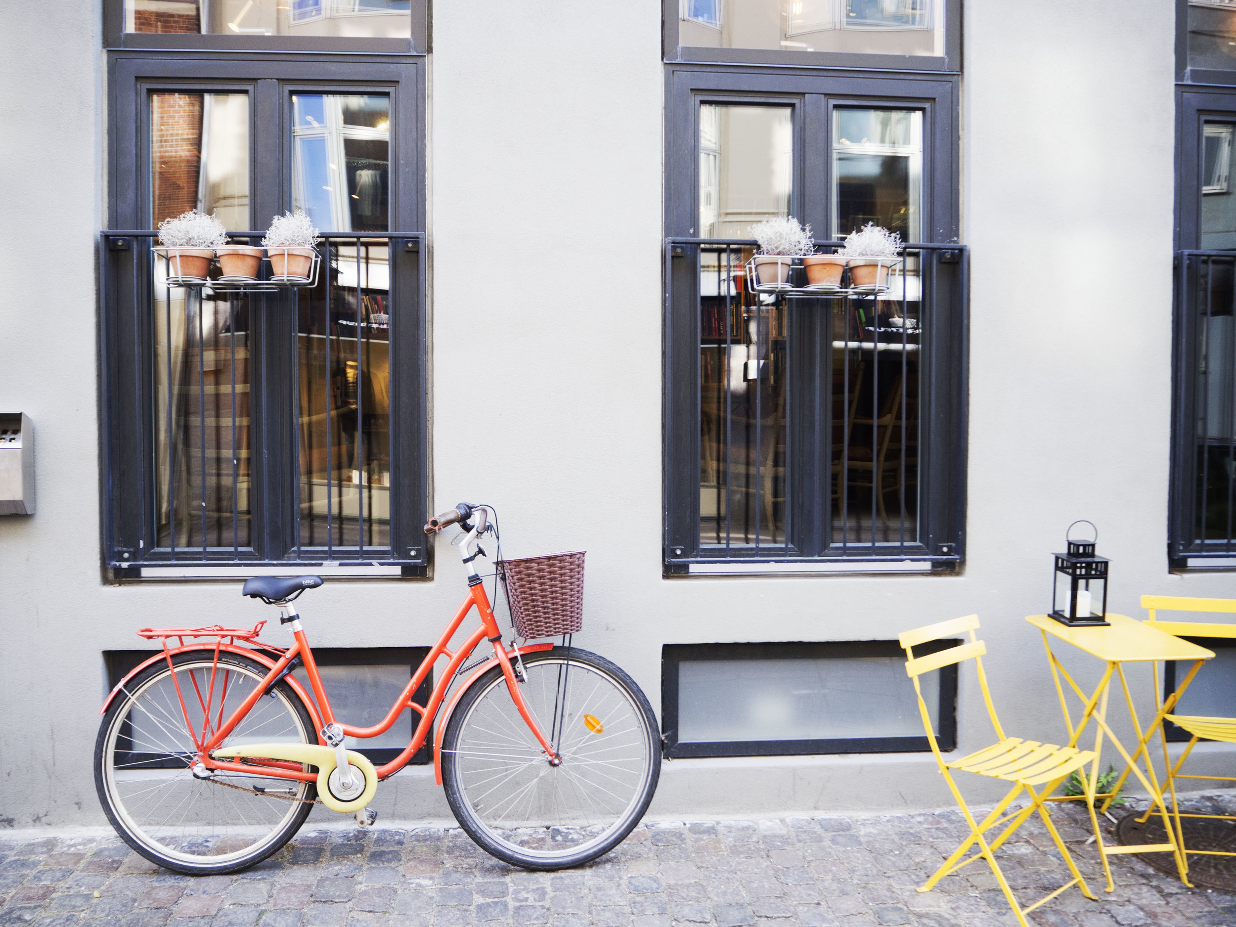 Outside Hotel SP34 in Copenhagen, Denmark.
