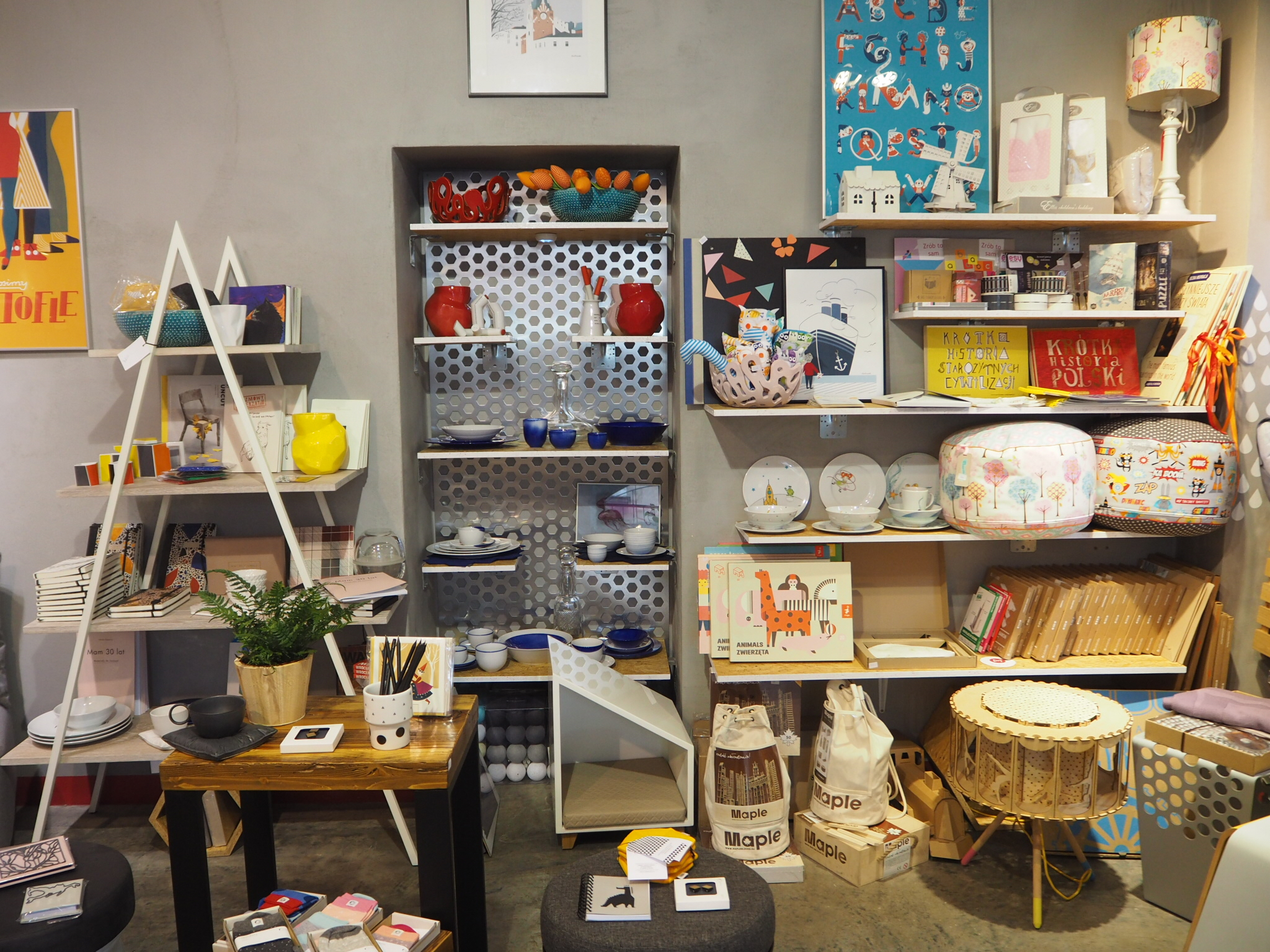 Marka Concept store in Krakow, Poland. Selling quirky homeware by Polish designers.