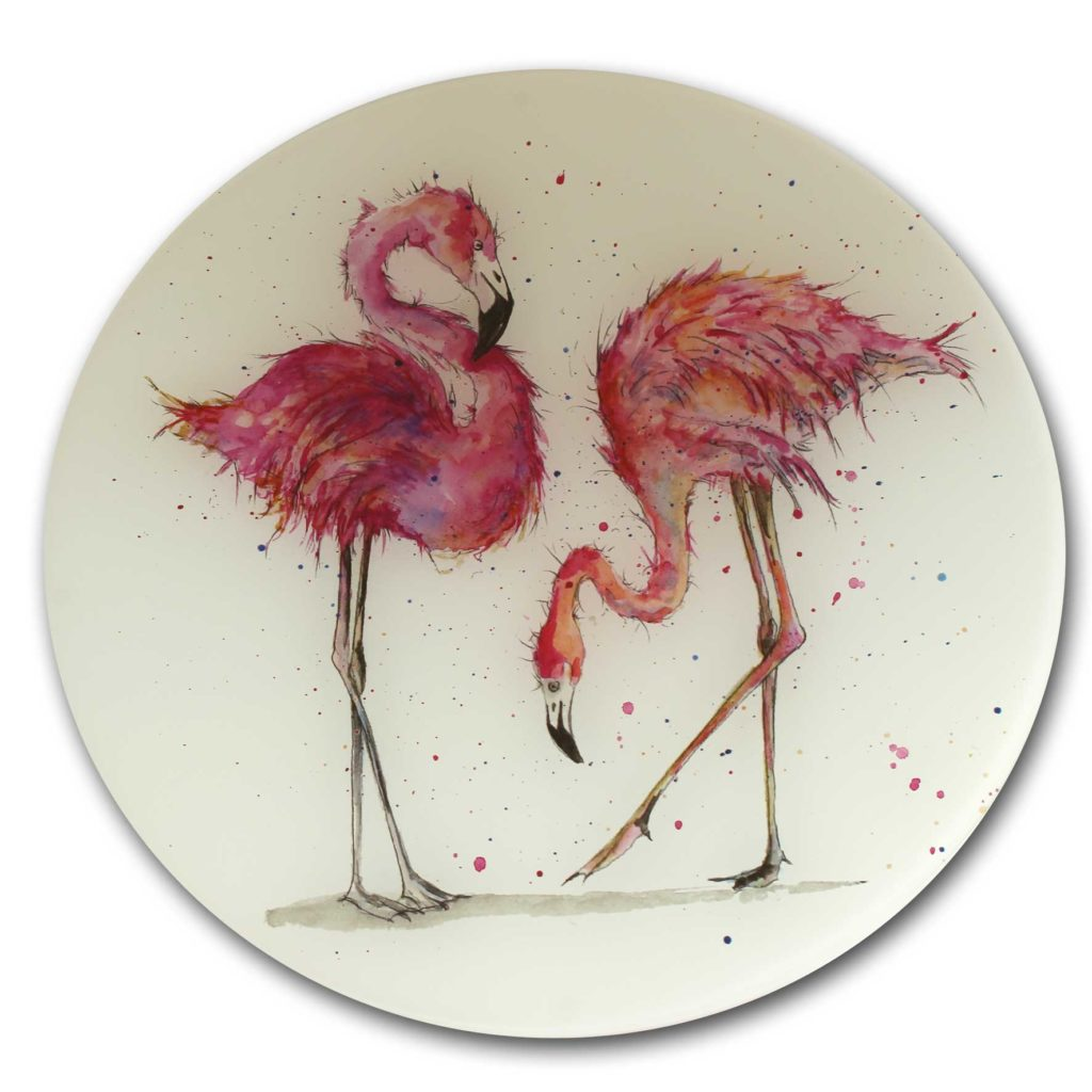 Flamingo glass worktop saver £24