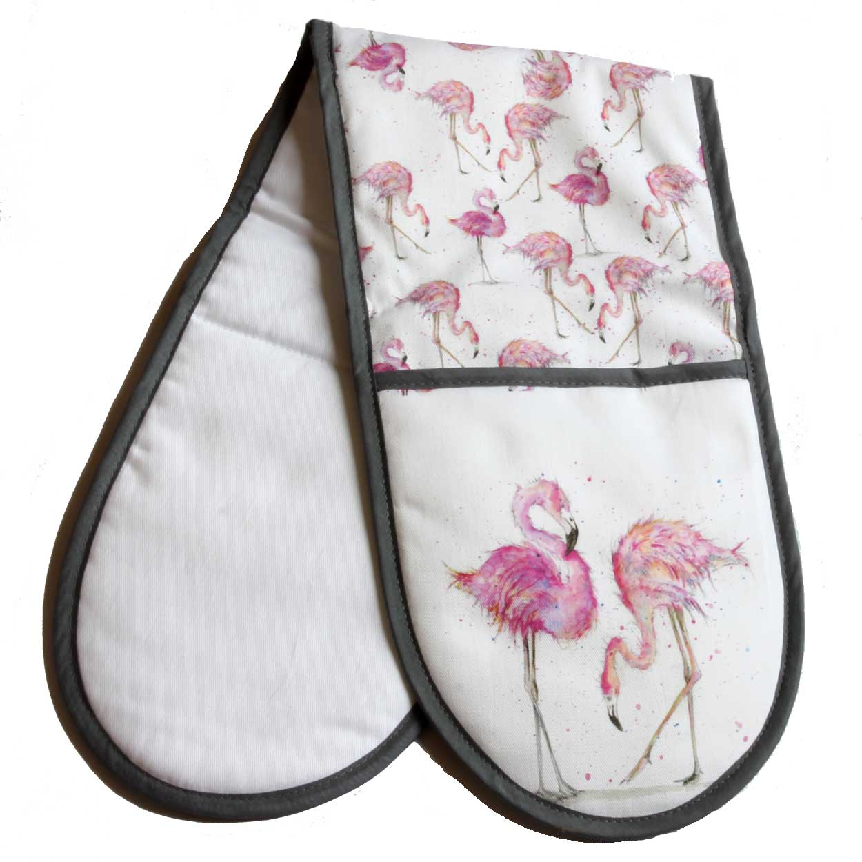 Flamingo oven gloves £18
