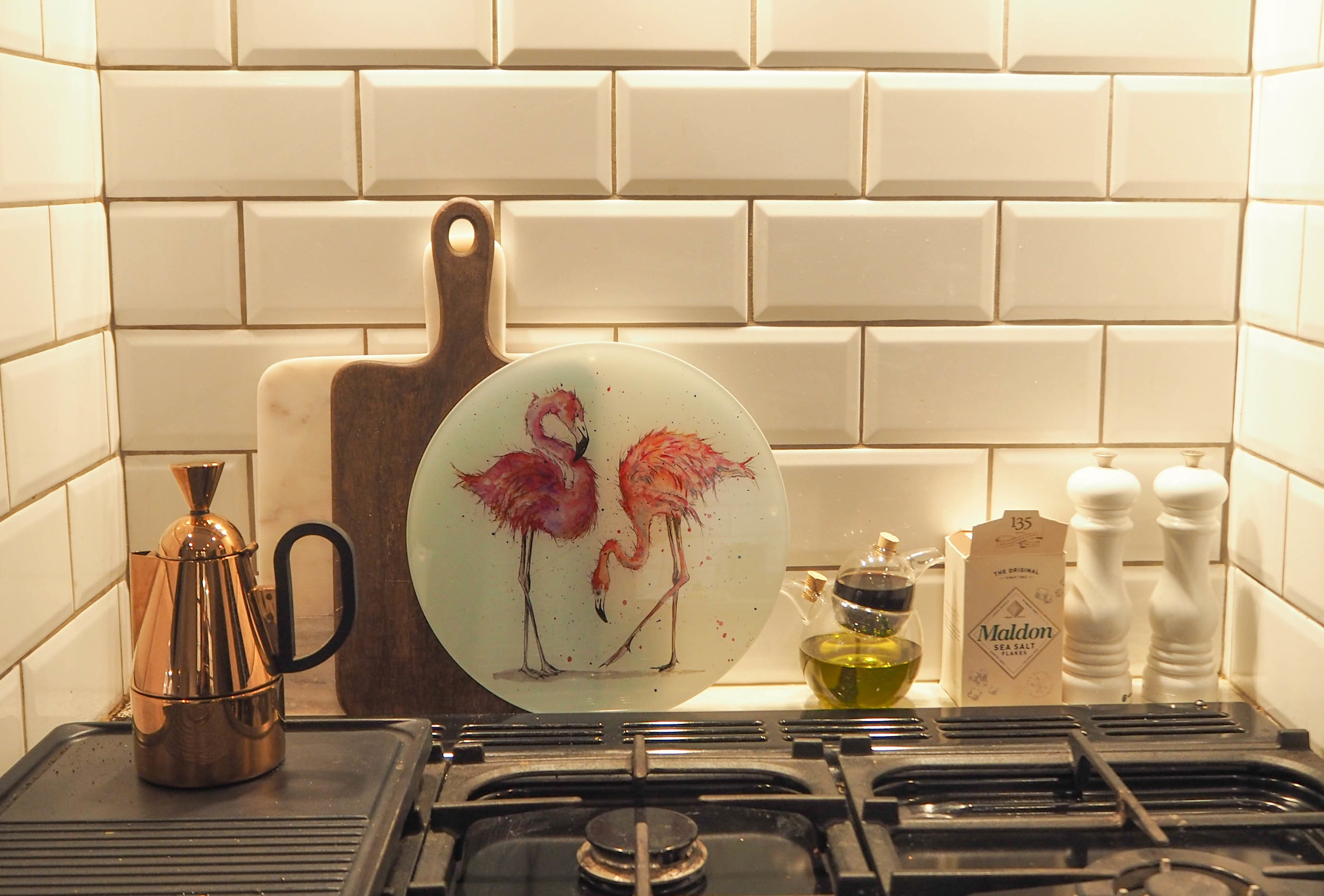 Sarah boddy - Flamingo Glass worktop saver