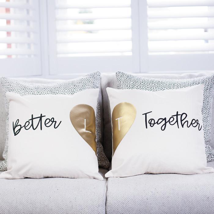 Personalised Couple's Cushion Set £40