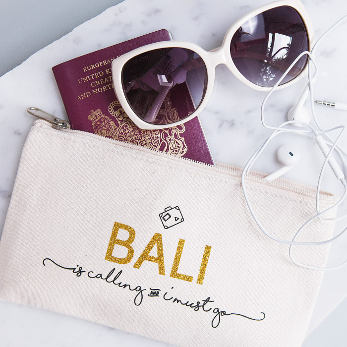 Personalised 'Destination Is Calling' Travel Pouch £16