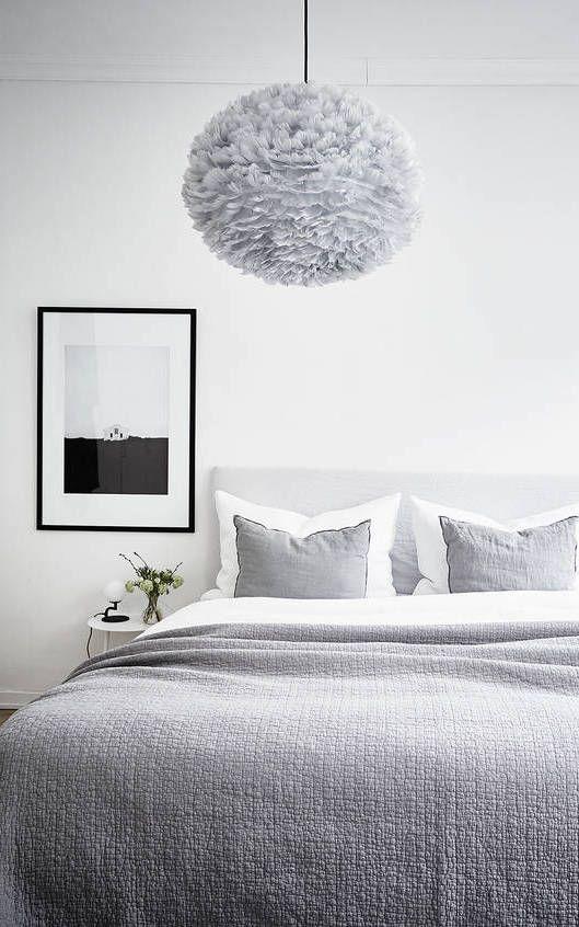 Fluffy light bedroom