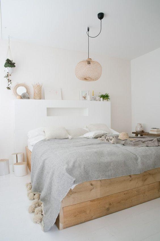 wicker bedroom light