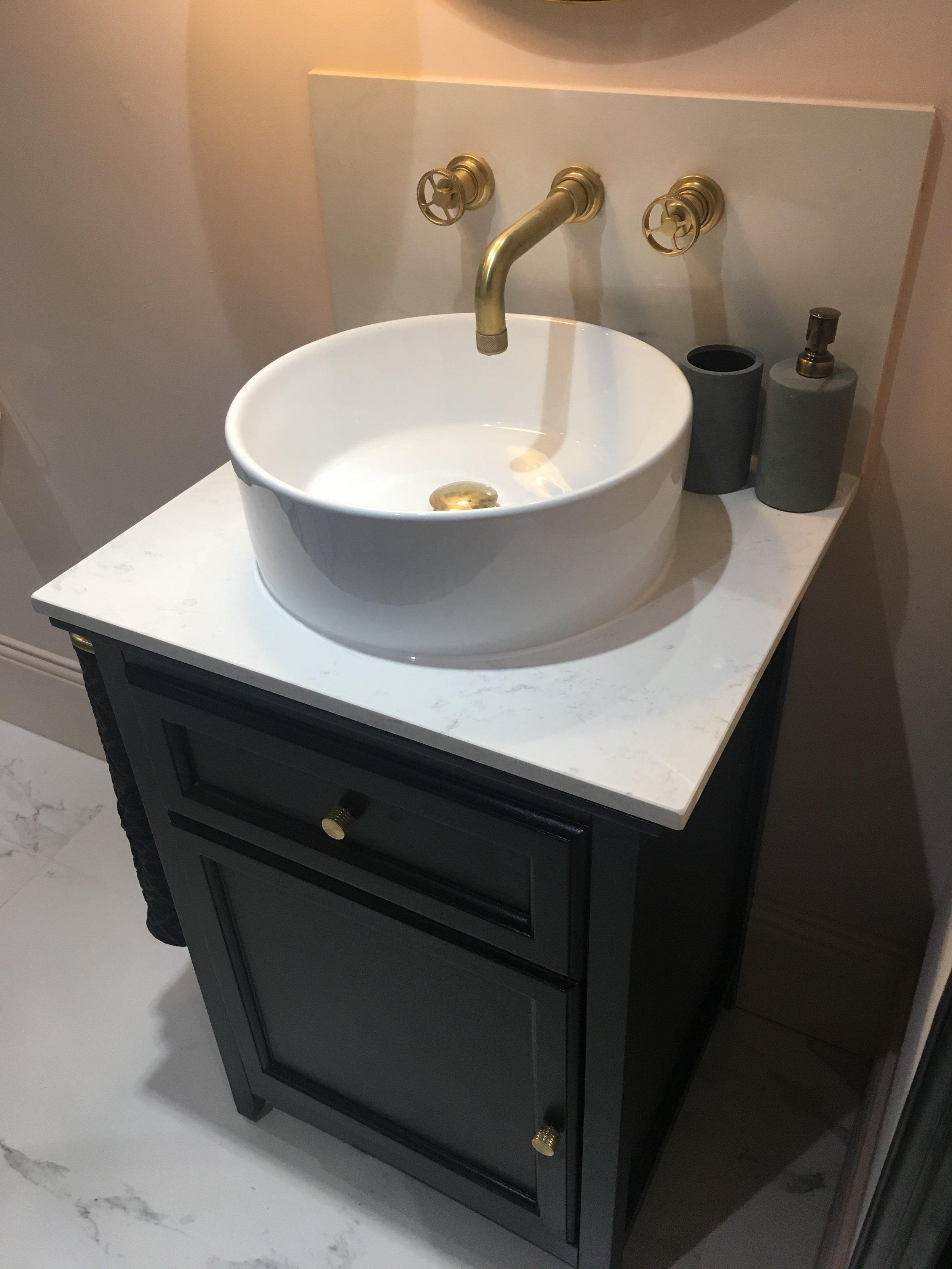 Stone top bathroom unit