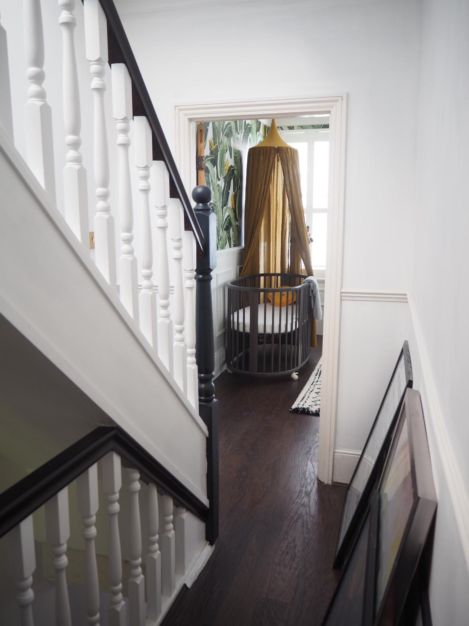 Hallway renovation before shot