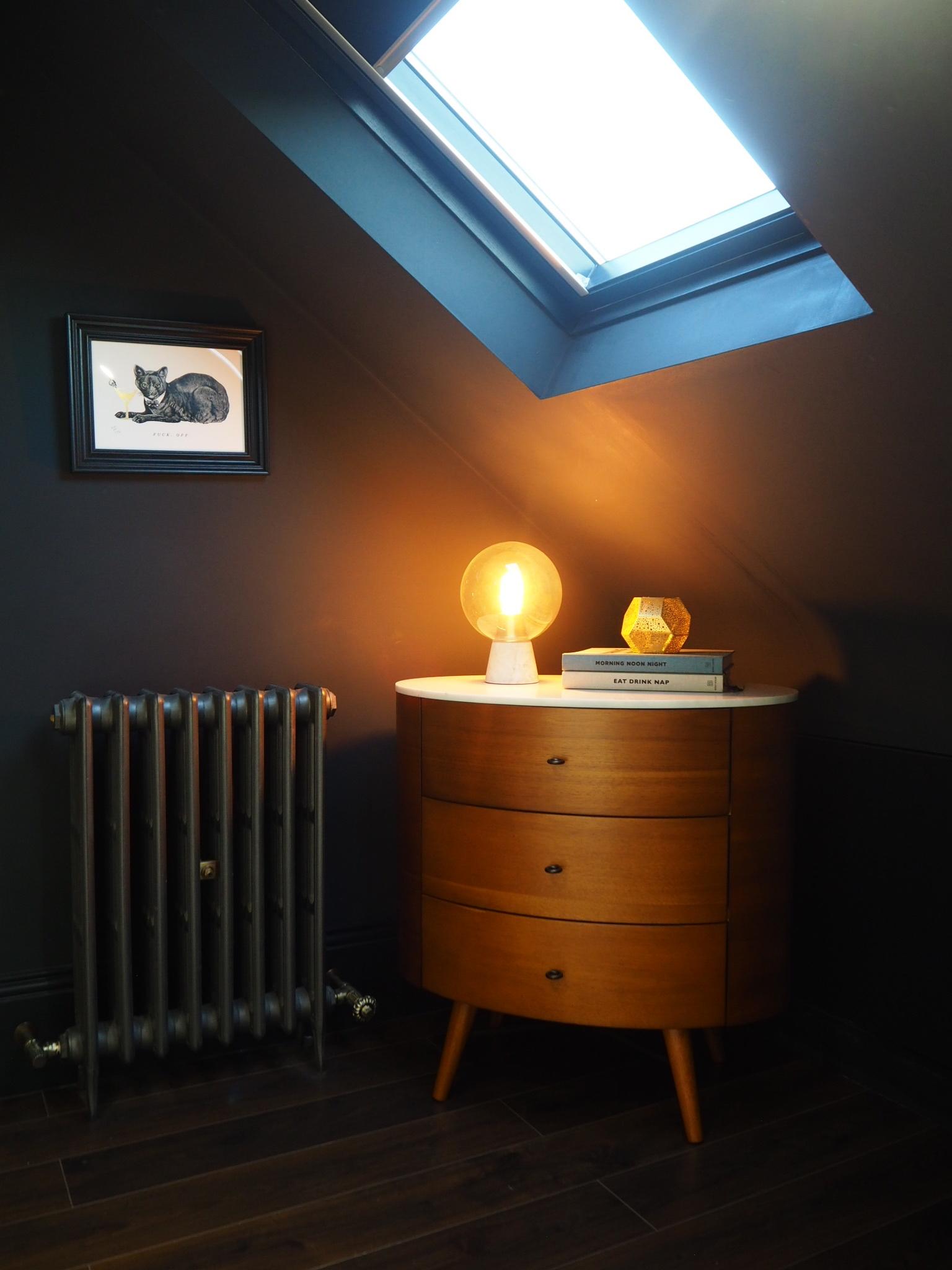 Penelope 3 drawer dresser   £599, West Elm.   Nova table lamp   £129 from West elm