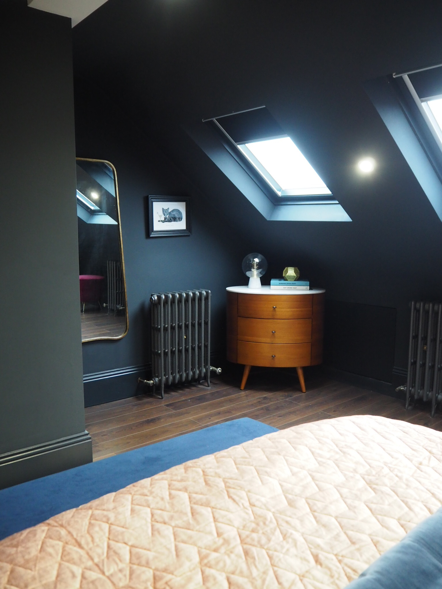 Penelope 3 drawer Dresser  , £599 from West Elm.   Nova table lamp   £129, from West Elm