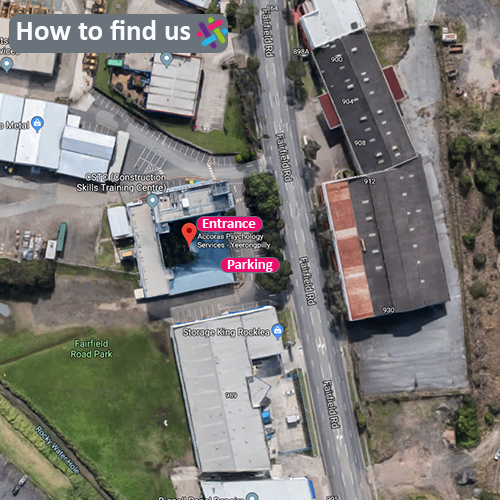 We have several parking spaces available in the front carpark for Accoras clients. Our practice is located on the ground floor to the left when you walk through the buildings main entrance.