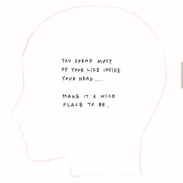 Make your head a nice space. Look after yourself  #headspaceinala #headspace #selfcare #mentalhealth