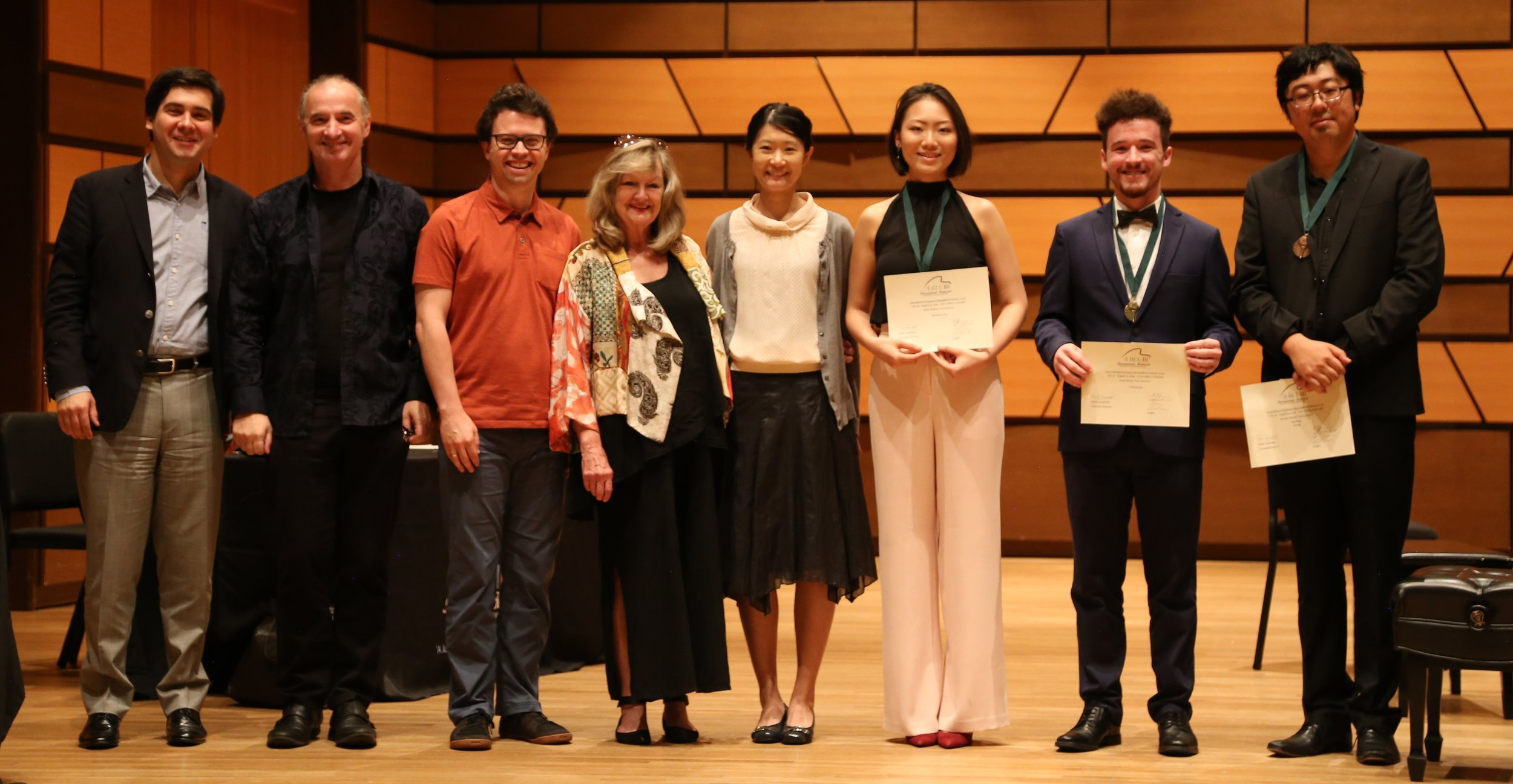 Full Concerto Winners and Judges