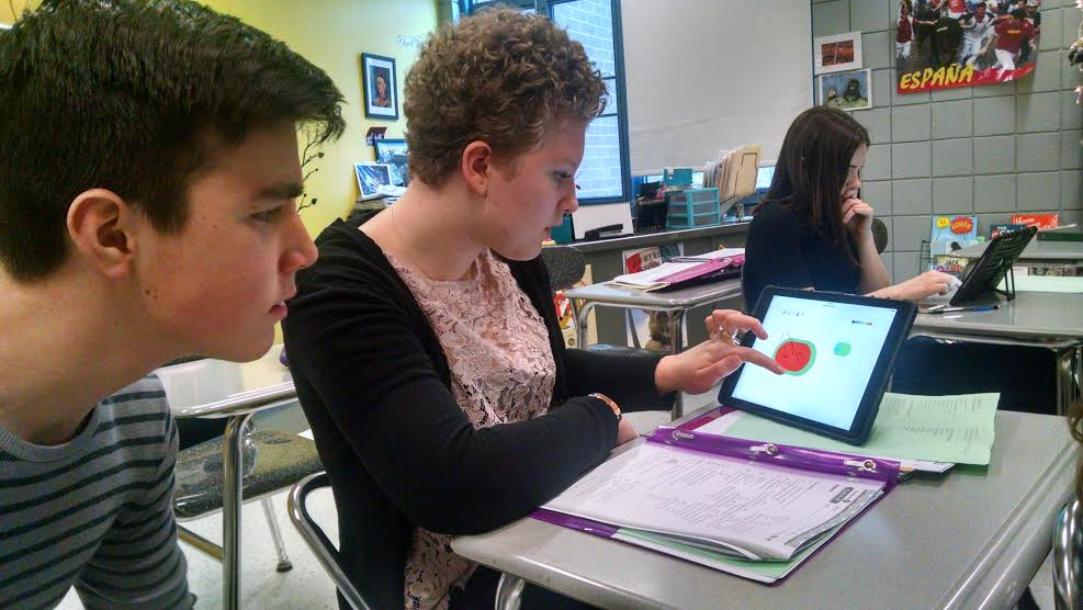 """Rachelle's students drawing a watermelon with our """"Show Your Work"""" drawing tool!"""