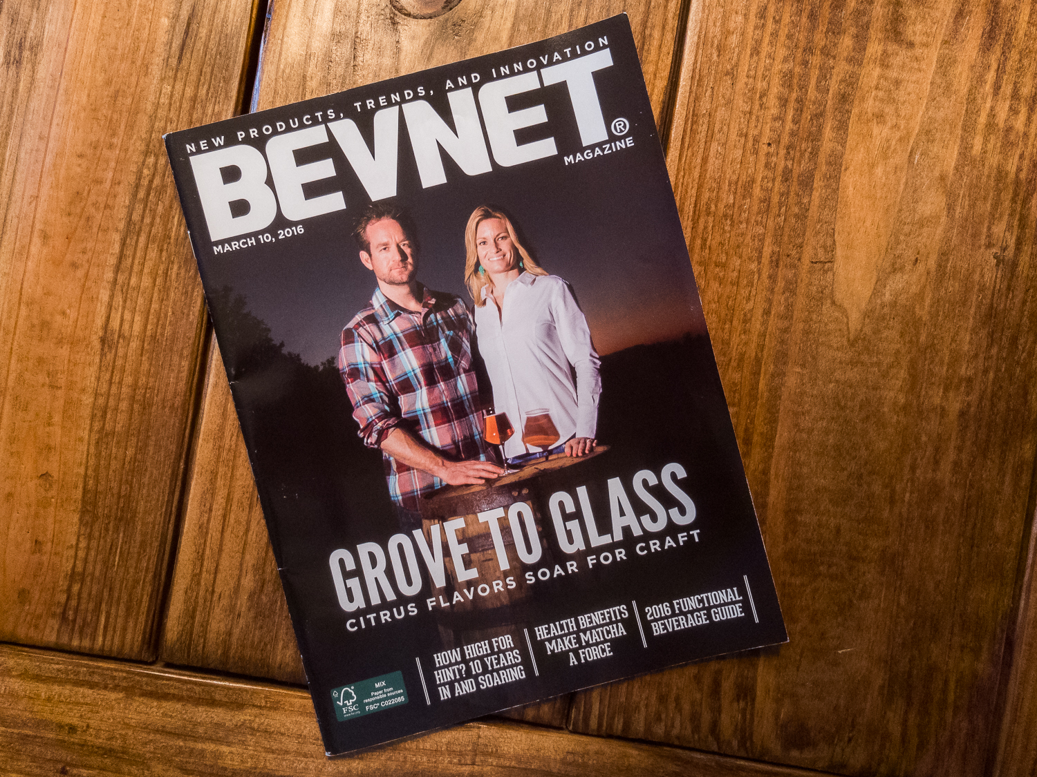 BevNet Magazine  Cover Shot With Alden and Valerie Bing of Orchid Island Brewery