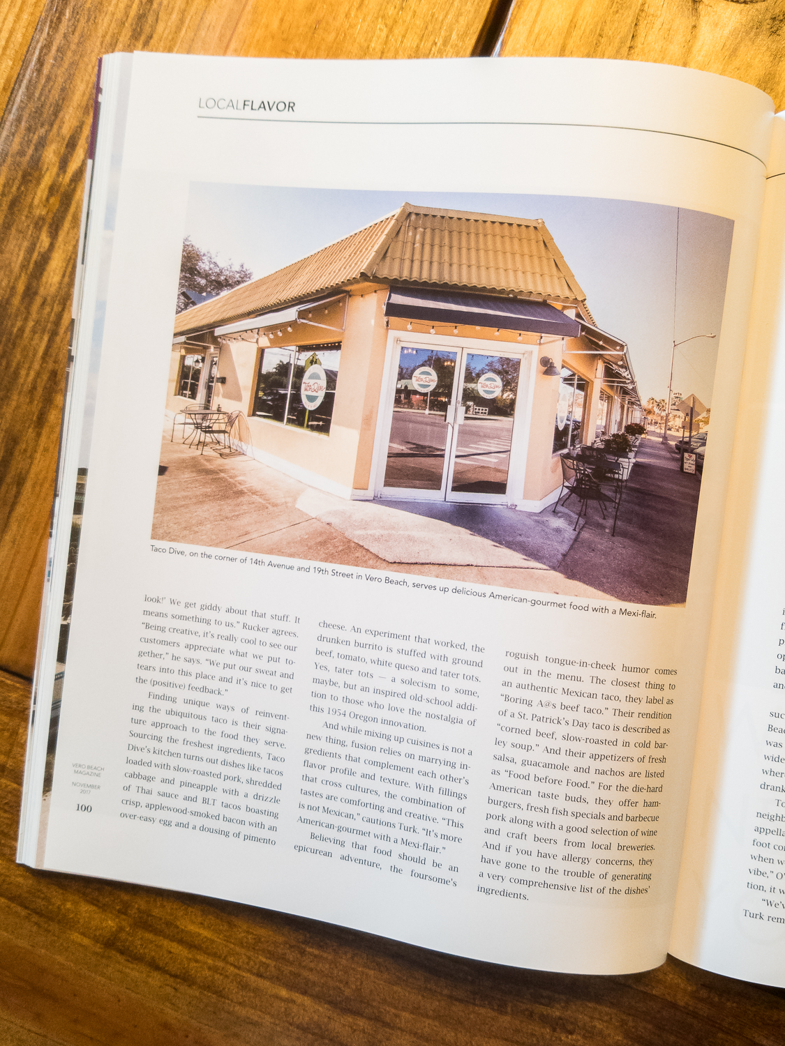 Local Flavor at Taco Dive - November 2017 Issue