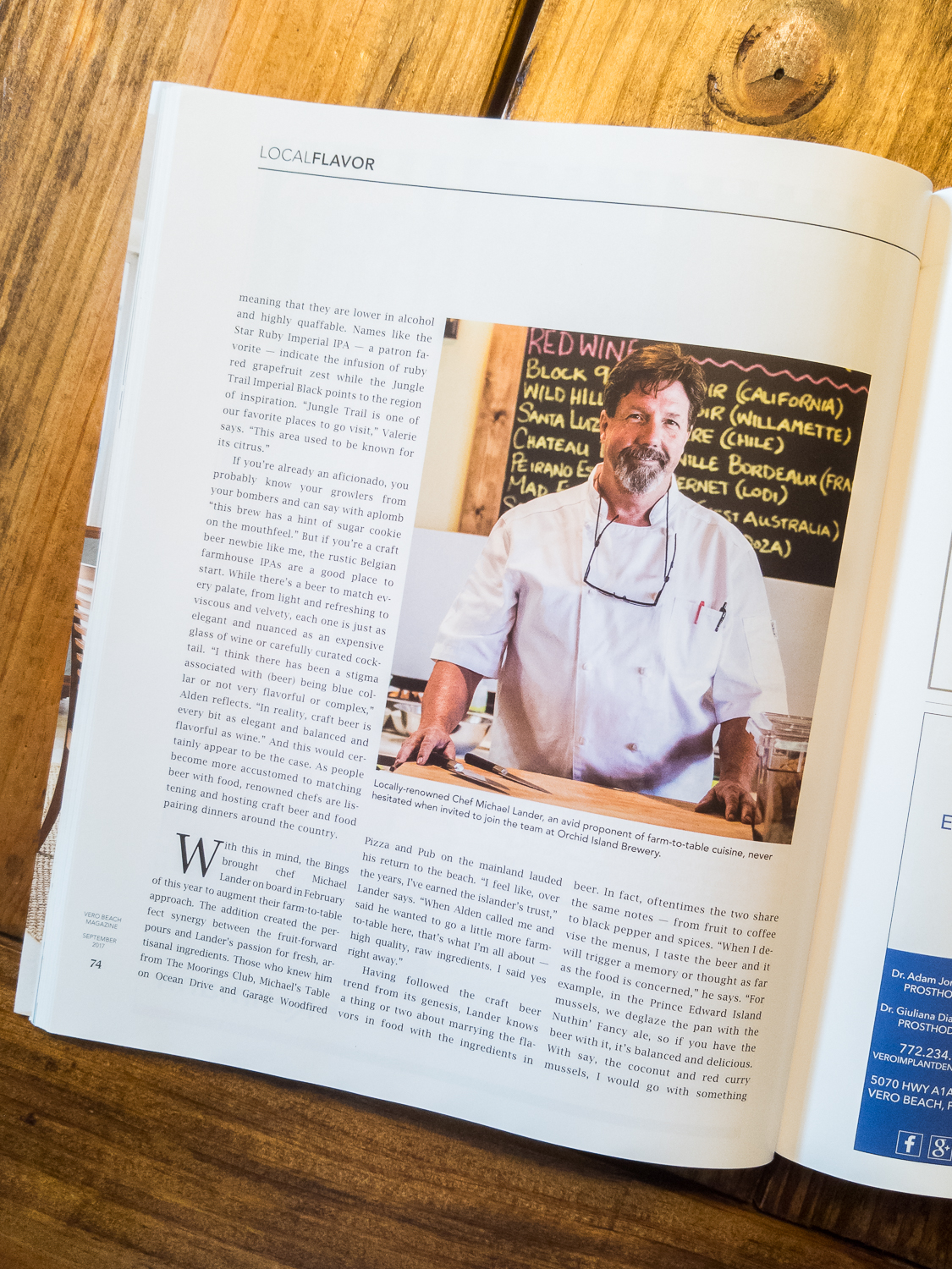 Local Flavor at Orchid Island Brewery - September 2017 Issue