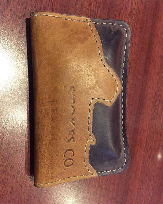 Thanks for the hookup Stokes @stokesco.leather. Amazing wallet. #deschutesriveranglers #stokescoleather #thepatientangler