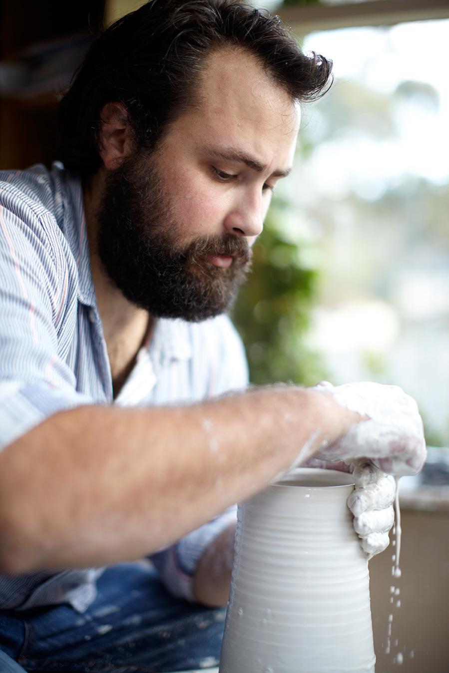 Ceramic artist Andrei Davidoff.