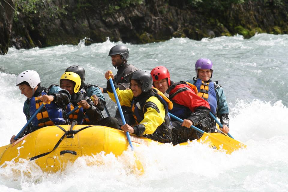 Navigating the wild Chitina River with our expert guides.