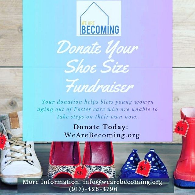 Stop! I need your attention for a moment. I have a question for you? What size shoe do you wear. If you wear a size 7.5, just by donating $7.50 you can be a part of We Are Becoming's mission. YOUR SUPPORT IS APPRECIATED AND NEEDED. We can't do it without you.  See link in Bio. You can also send donations to address in Bio.  WE ARE BECOMING's mission is to serve vulnerable young people, to give them hope and a future by providing a safe place to call home. Our vision is to see the compassion of Christ transform lives and communities.  We Are Becoming's residential programs are designed to welcome vulnerable young people into a place of safety and security, where they can find rest to put down their burdens for a time. During their time in the WAB home, we encourage and cultivate healthy relationships and support each resident's personal progress. We provide a community of support and mentoring that helps to prepare them in practical ways for successful independent living.