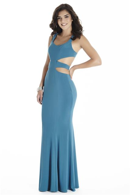 One piece multiple cut out. Available in Black and Teal.