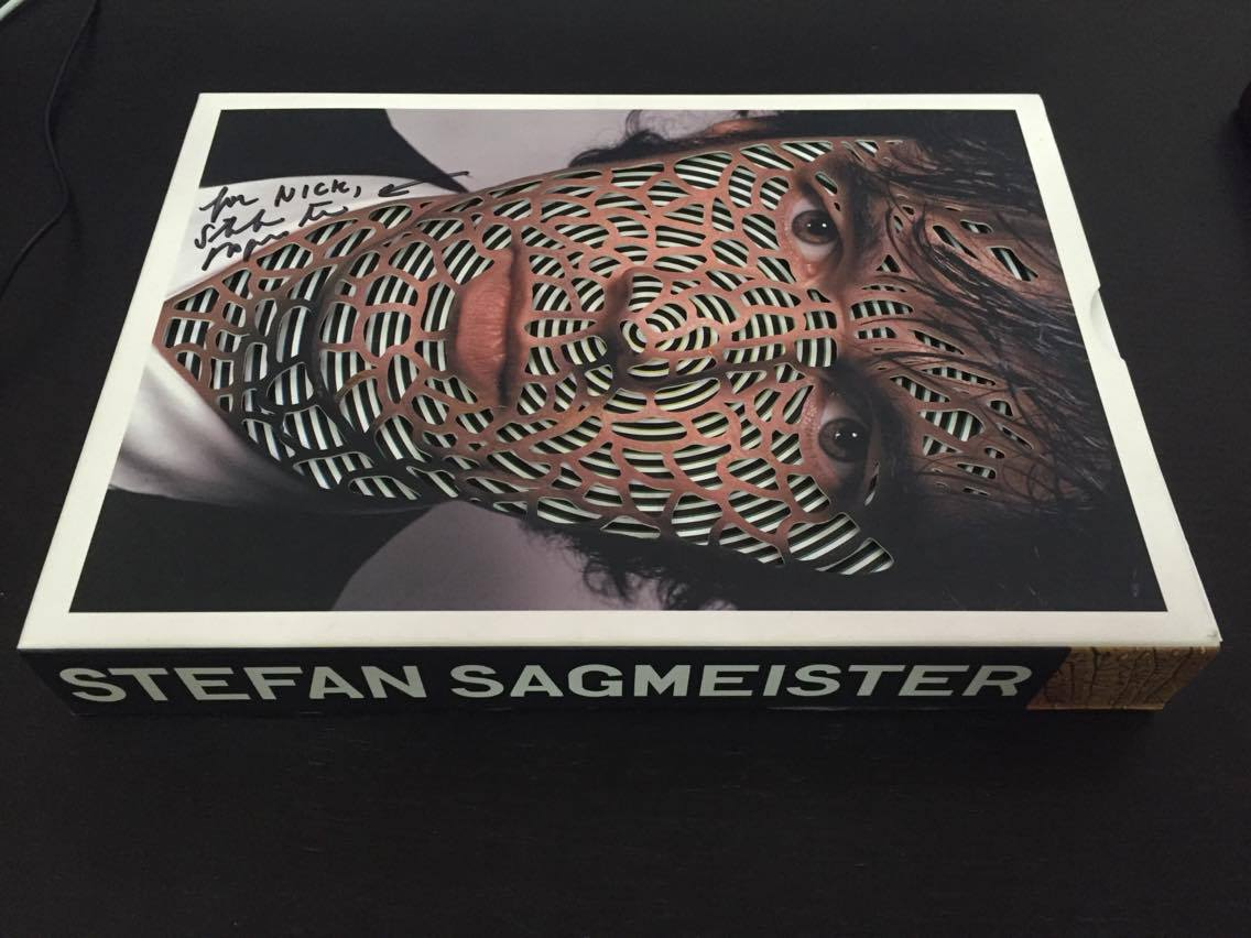 My copy of the great book by Stefan Sagmeister