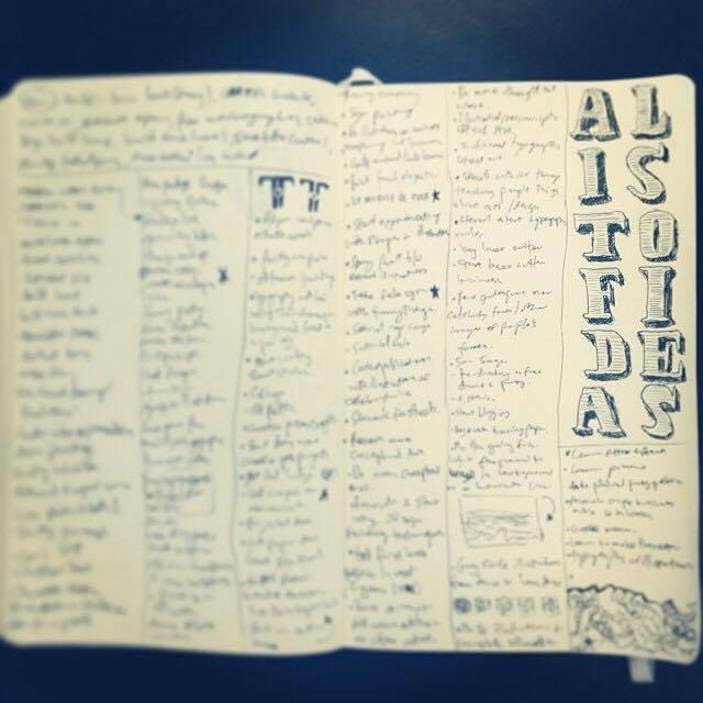 Make lists of ideas!